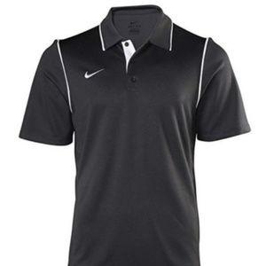NWT Nike Mens Black Dri-Fit Golf Polo Shirt S L